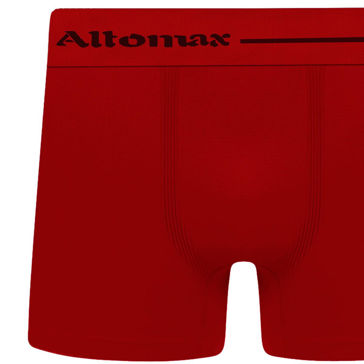 Cueca Boxer Masculina Básica Microfibra Vermelha