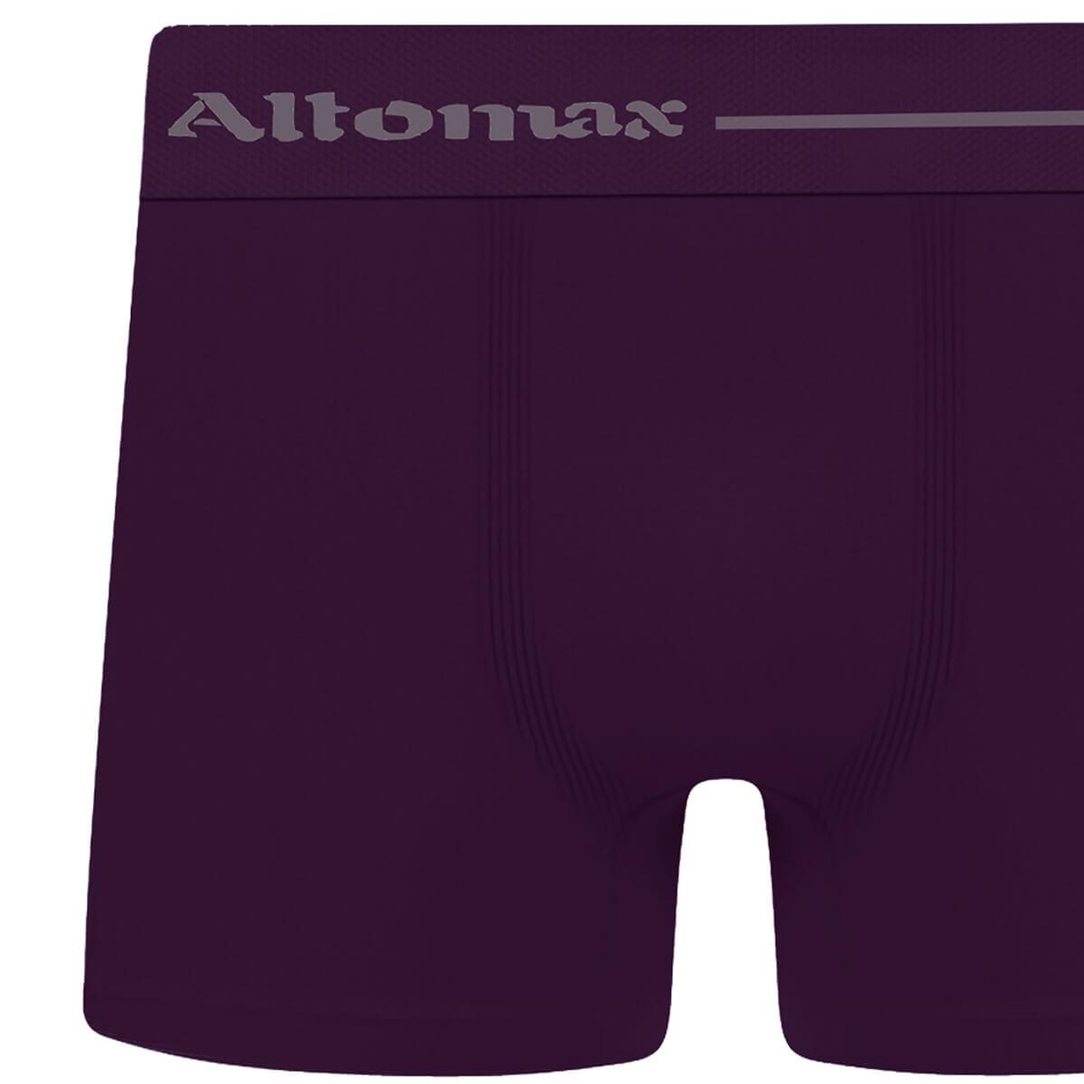 Cueca Boxer Masculina Básica Microfibra Violeta