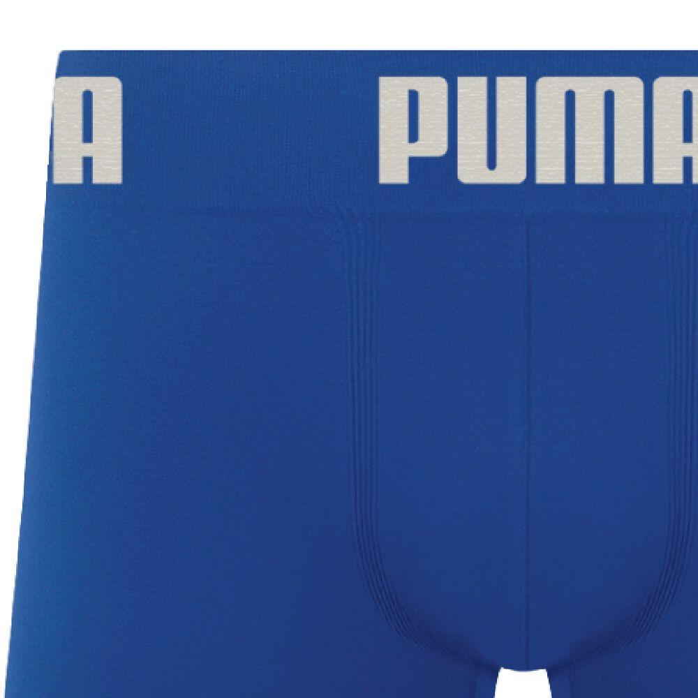 Cueca Boxer Puma Microfibra Azul