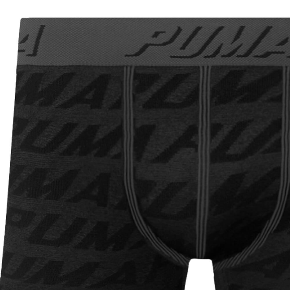 Cueca Boxer Puma Microfibra Estampada Preta