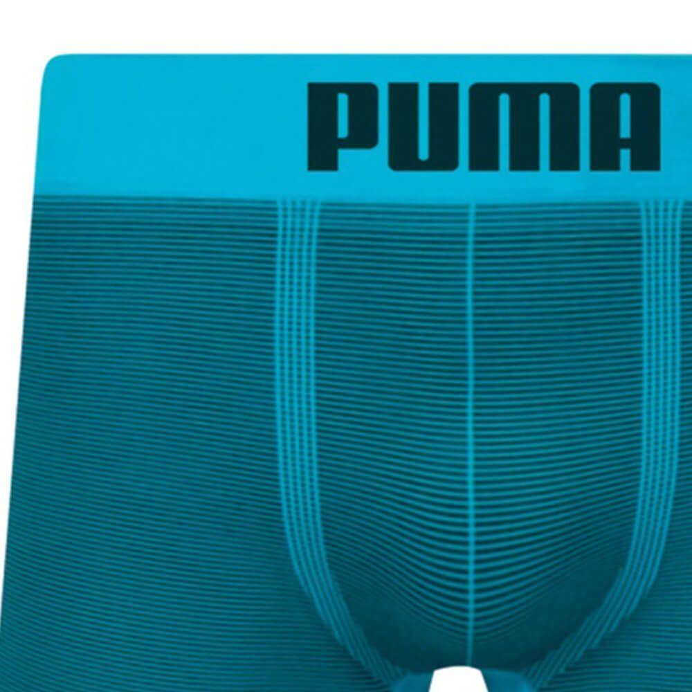 Cueca Boxer Puma Microfibra Listrada Azul