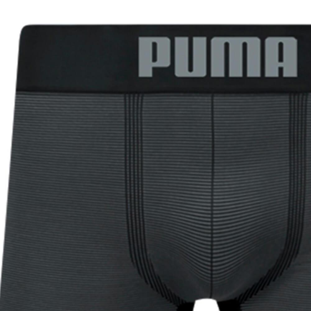 Cueca Boxer Puma Microfibra Listrada Preta