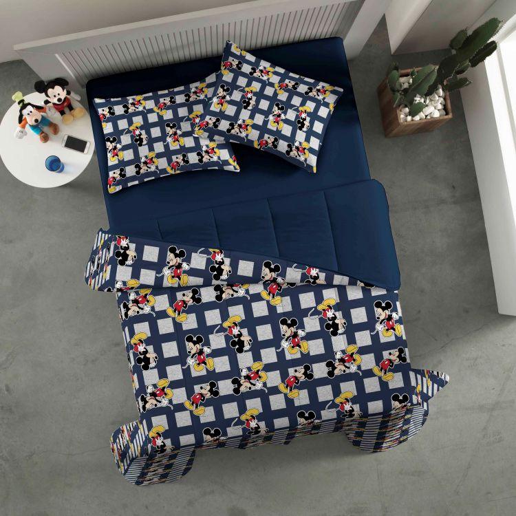 518b64b351 casa cama edredons solterio edredom infantil santista mickey sound ...