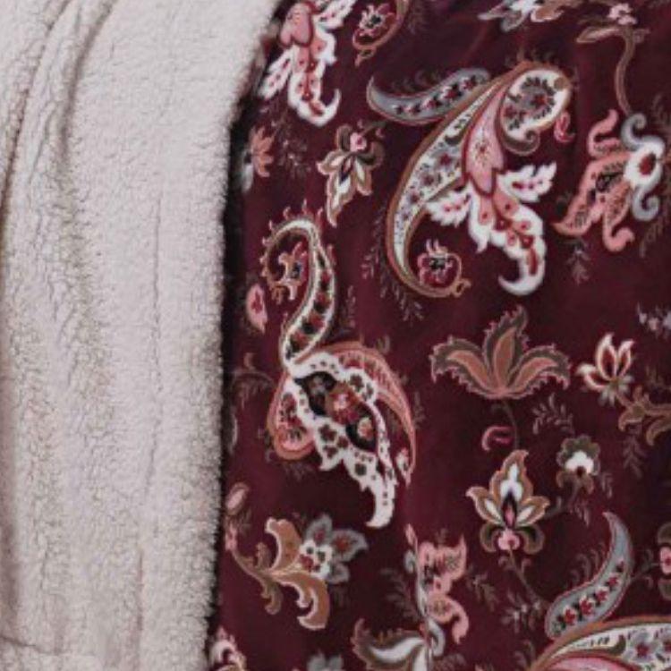 Cobertor Queen Sherpa Paisley