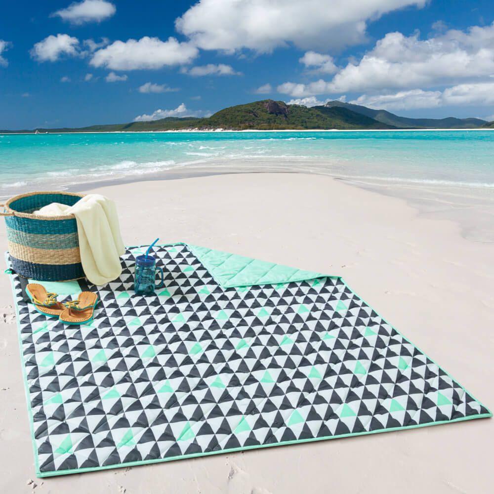 Esteira de Praia Dobrável Dupla Face Beach