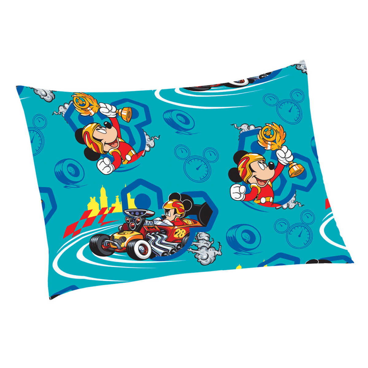 Fronha Infantil Avulsa Microfibra Mickey Aventura Sobre Rodas