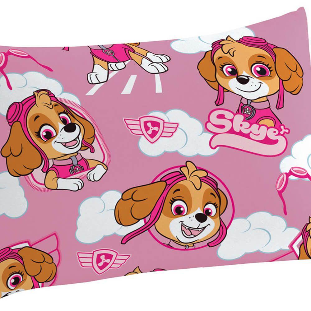 Fronha Infantil Avulsa Microfibra Patrulha Canina Skye