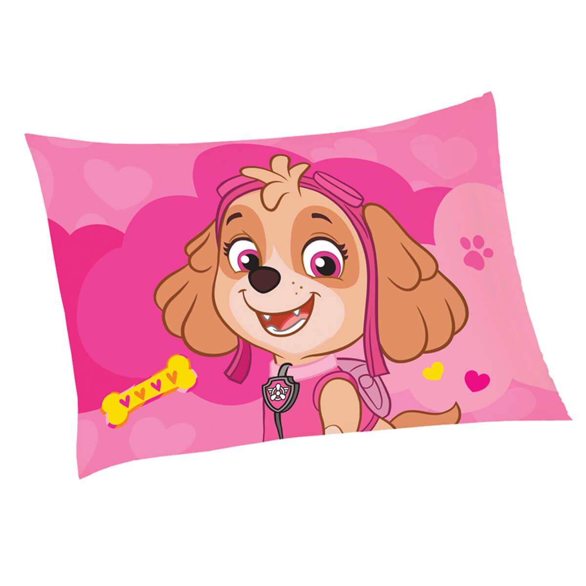Fronha Infantil Avulsa Patrulha Canina Skye Love