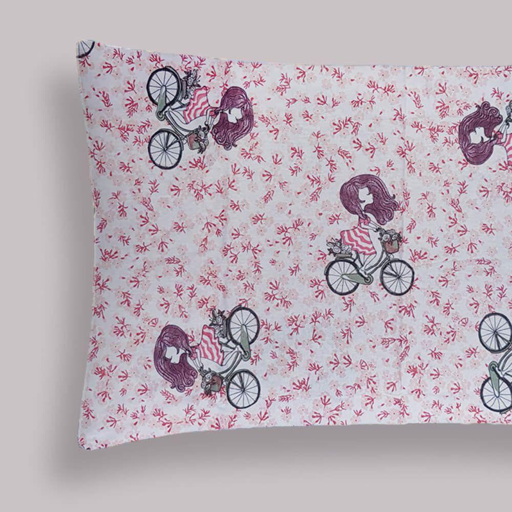 Fronha Infantil Malha Portal Play Bicicleta