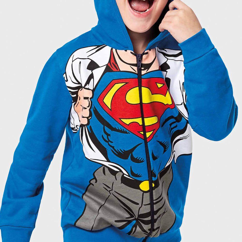 Jaqueta Infantil Menino Moletom Super Homem