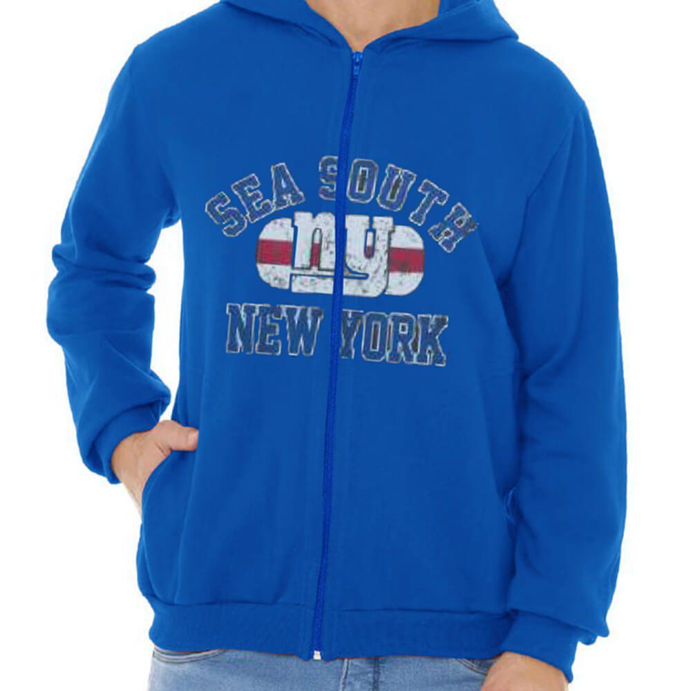 Jaqueta Masculina Moletom Canguru Estampada New York