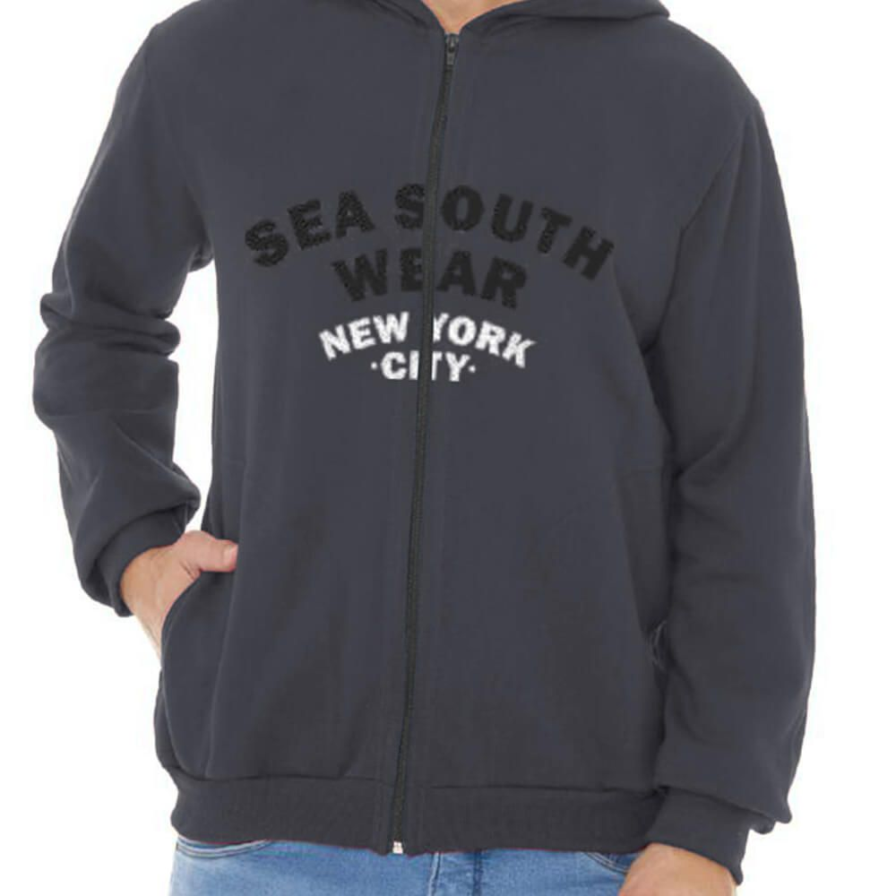 Jaqueta Masculina Moletom Canguru Estampada NYC Wear