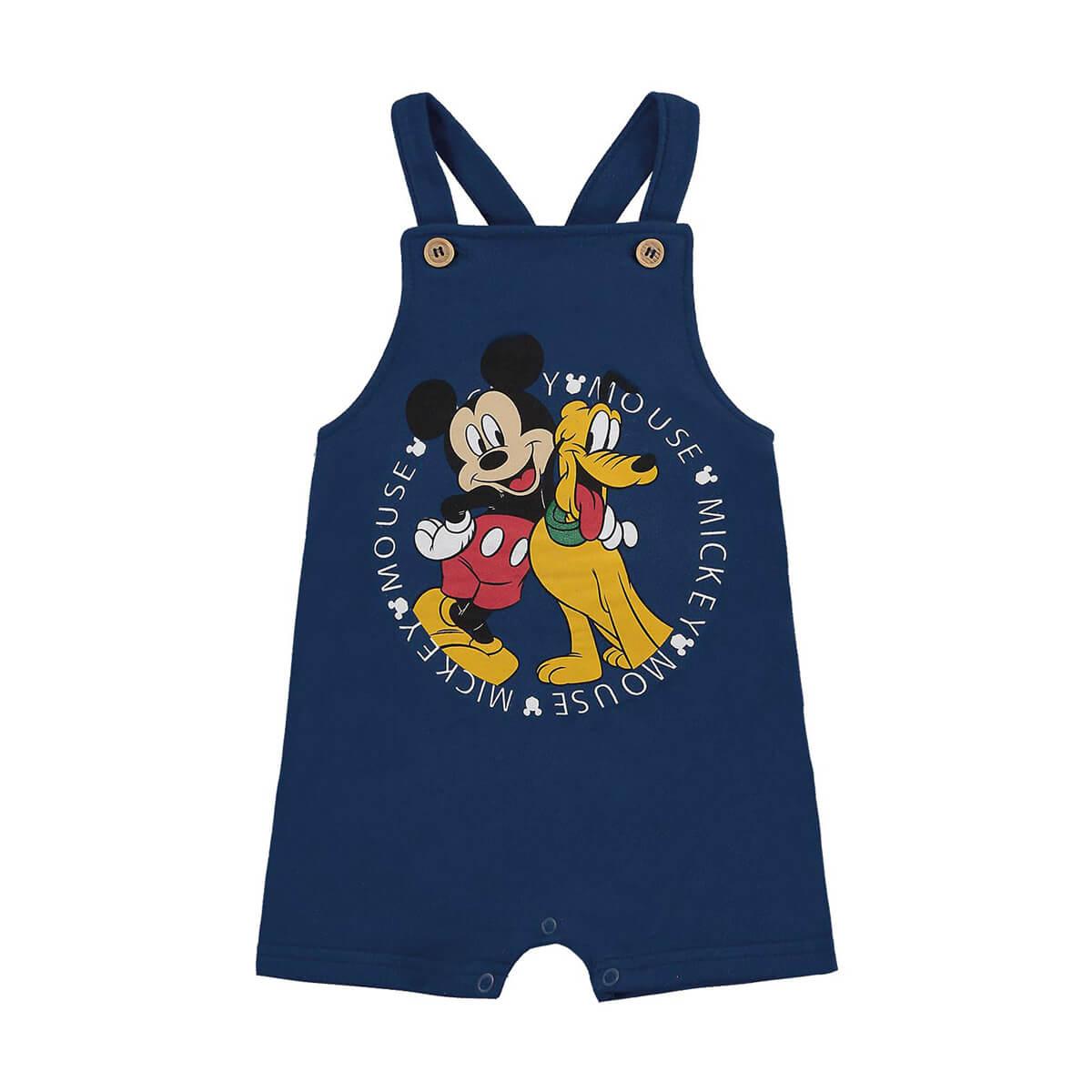 Jardineira Bebê Menino Mickey