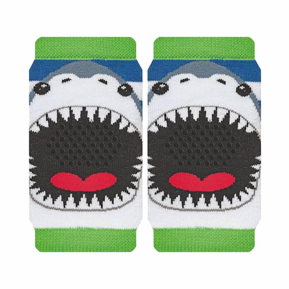 Joelheira Bebê Menino Antiderrapante Tubarão