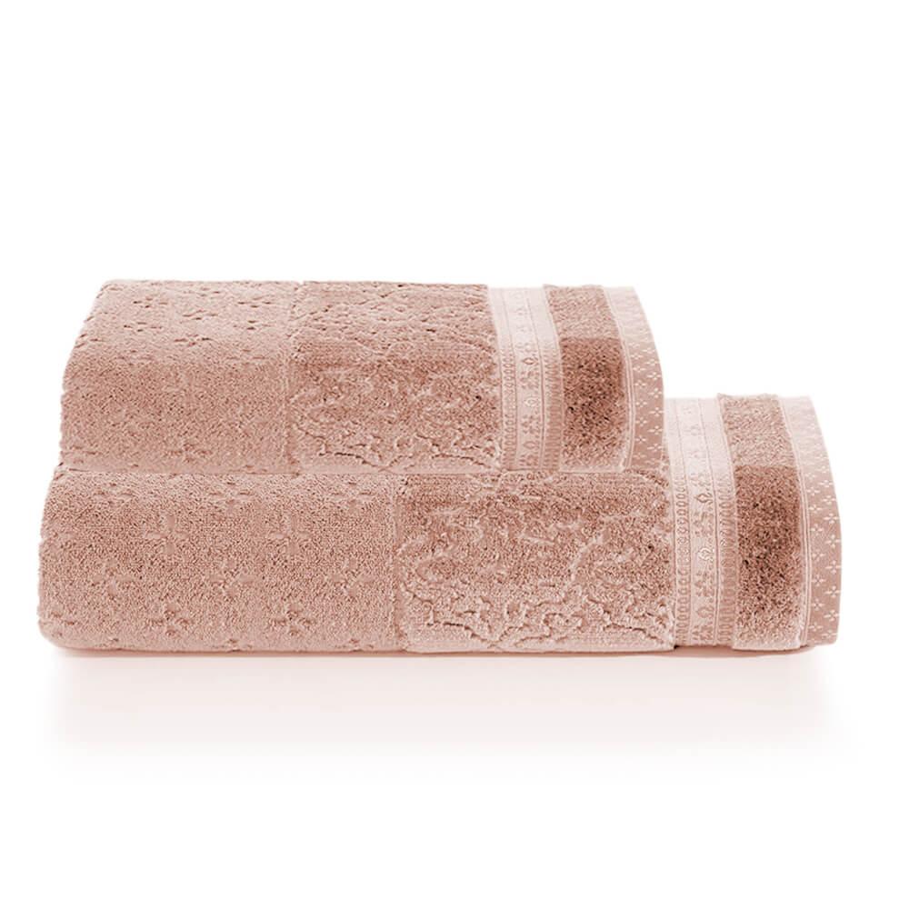 Jogo de Banho 2 Peças Le Bain Madras Rosê