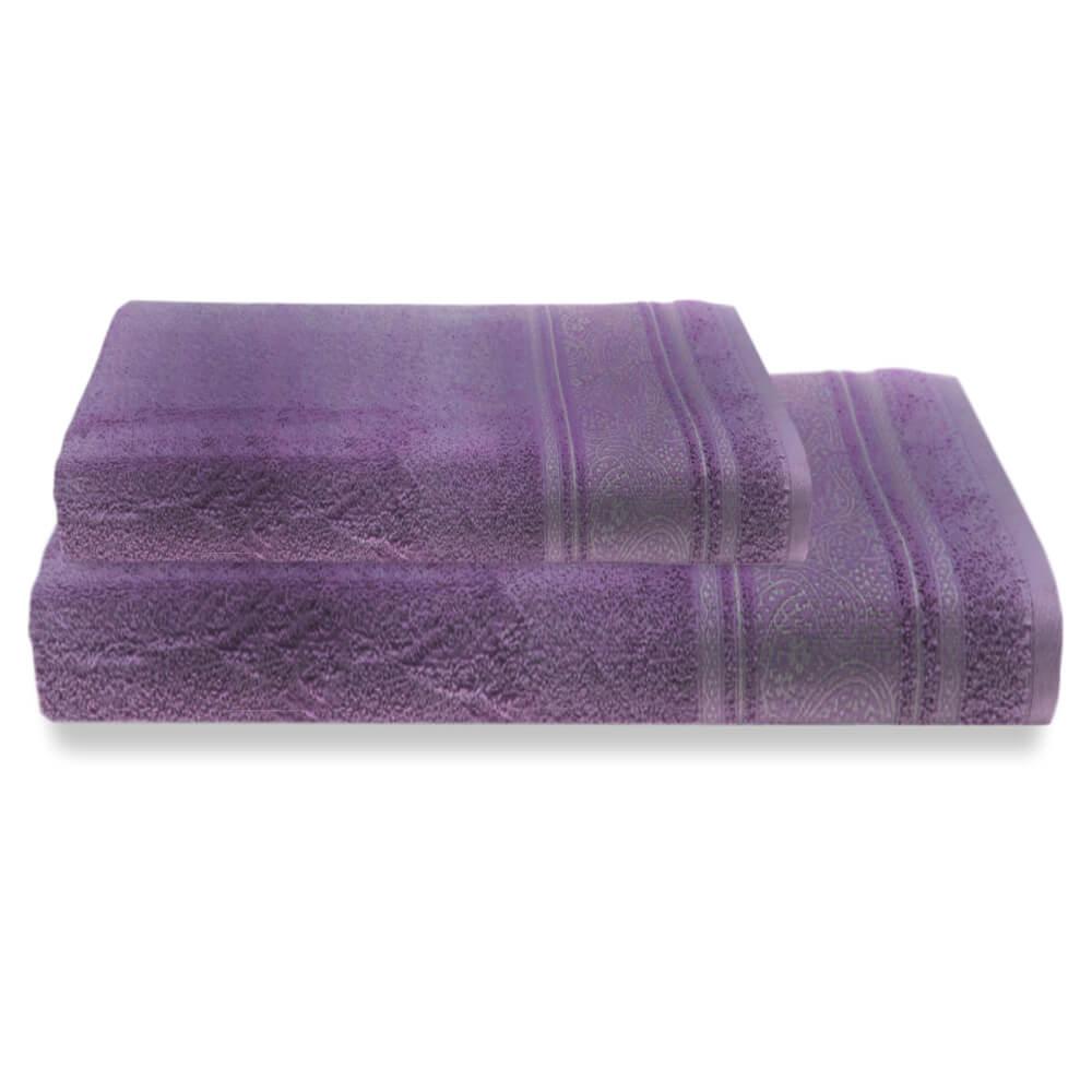 Jogo de Banho 2 Peças Platinum Pérsia Violeta