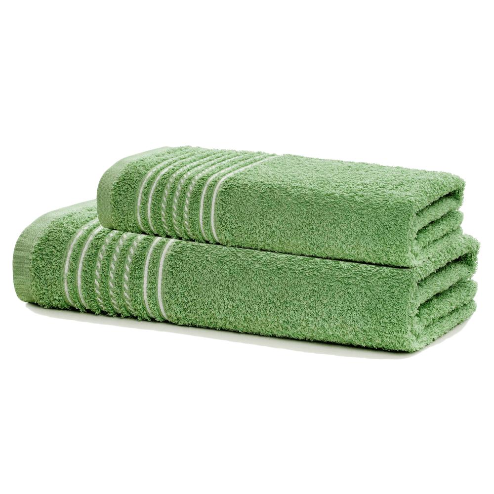Jogo de Banho 2 Peças Prata Apolo Verde