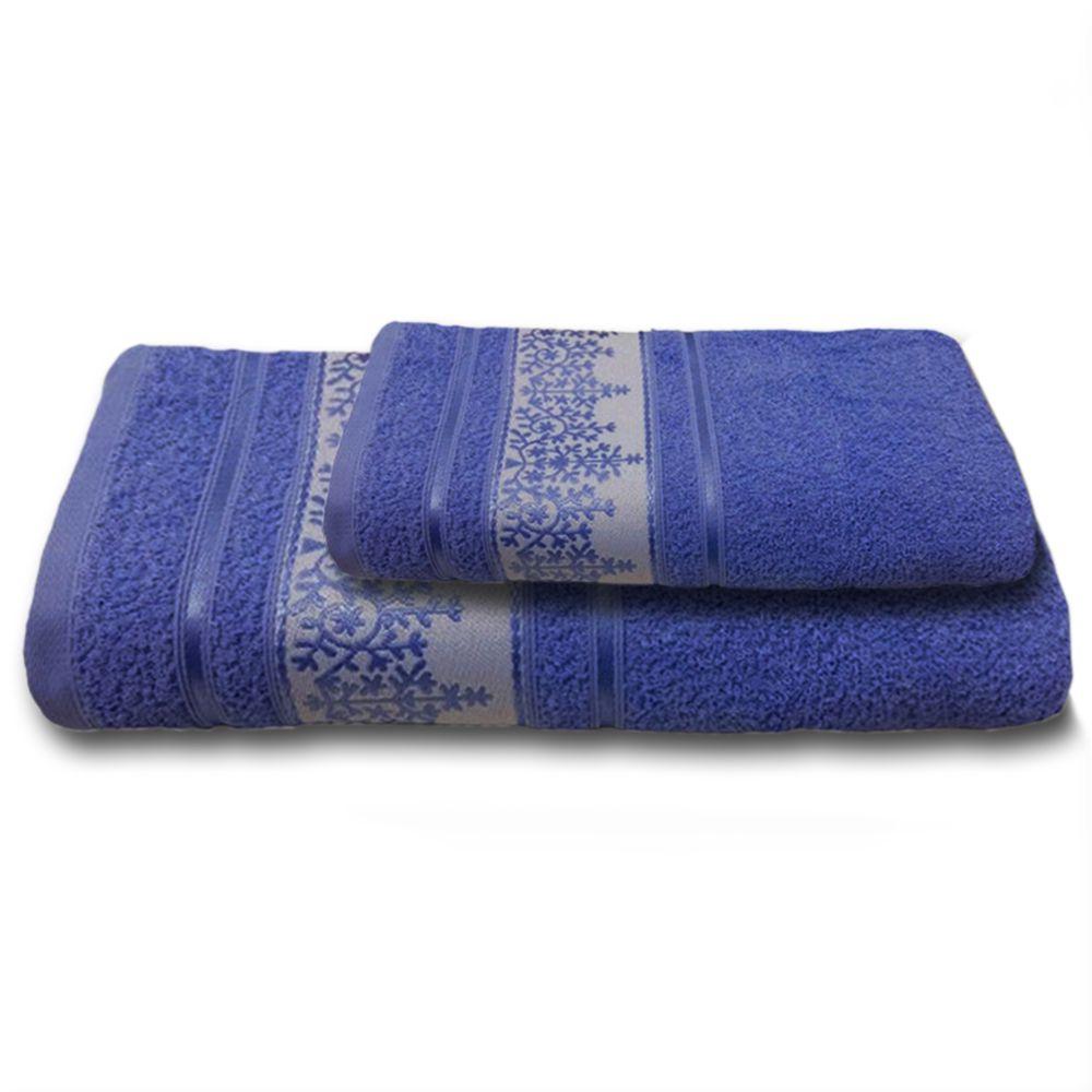 Jogo de Banho 2 Peças Prata Ellen Azul