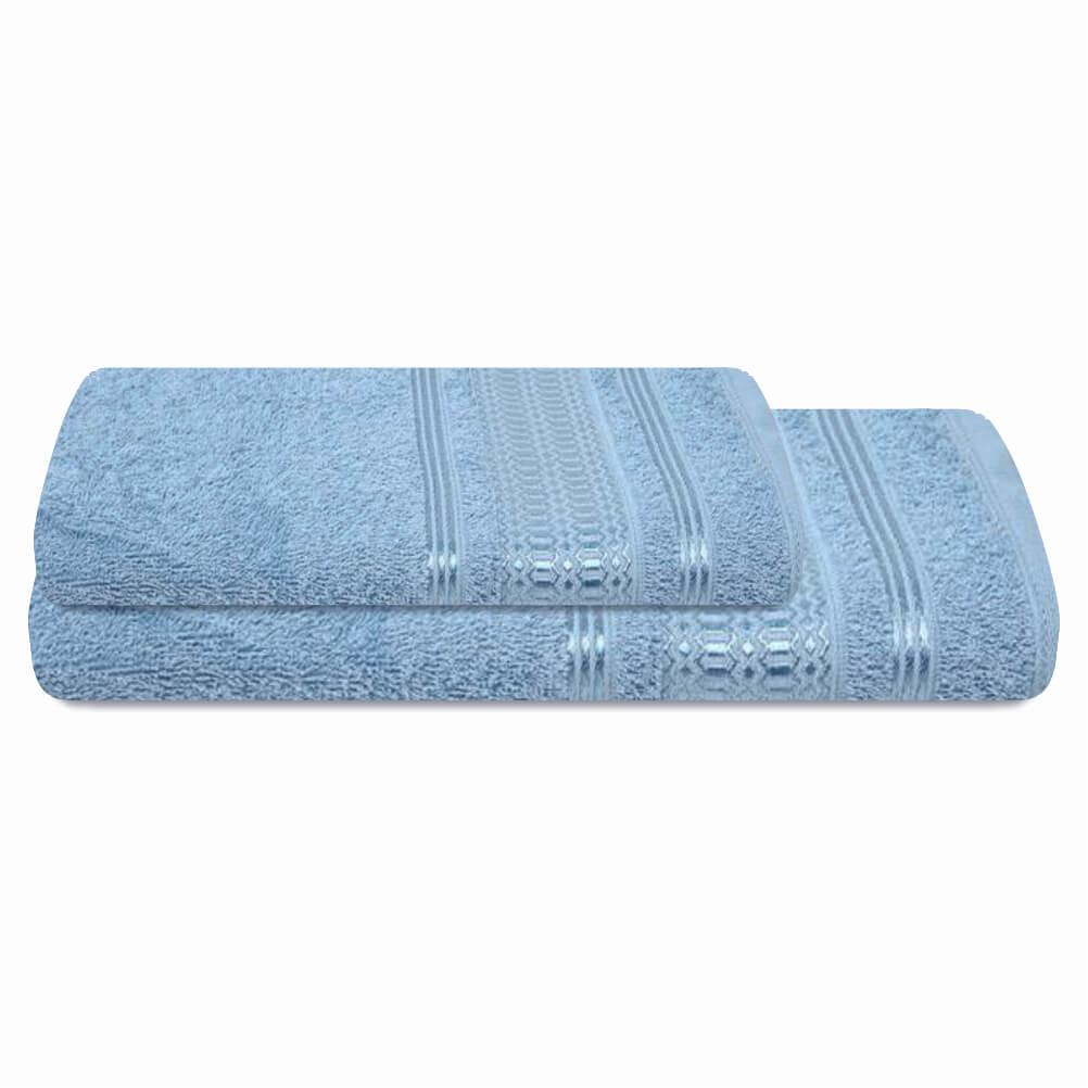 Jogo de Banho 2 Peças Prata Jordan Azul
