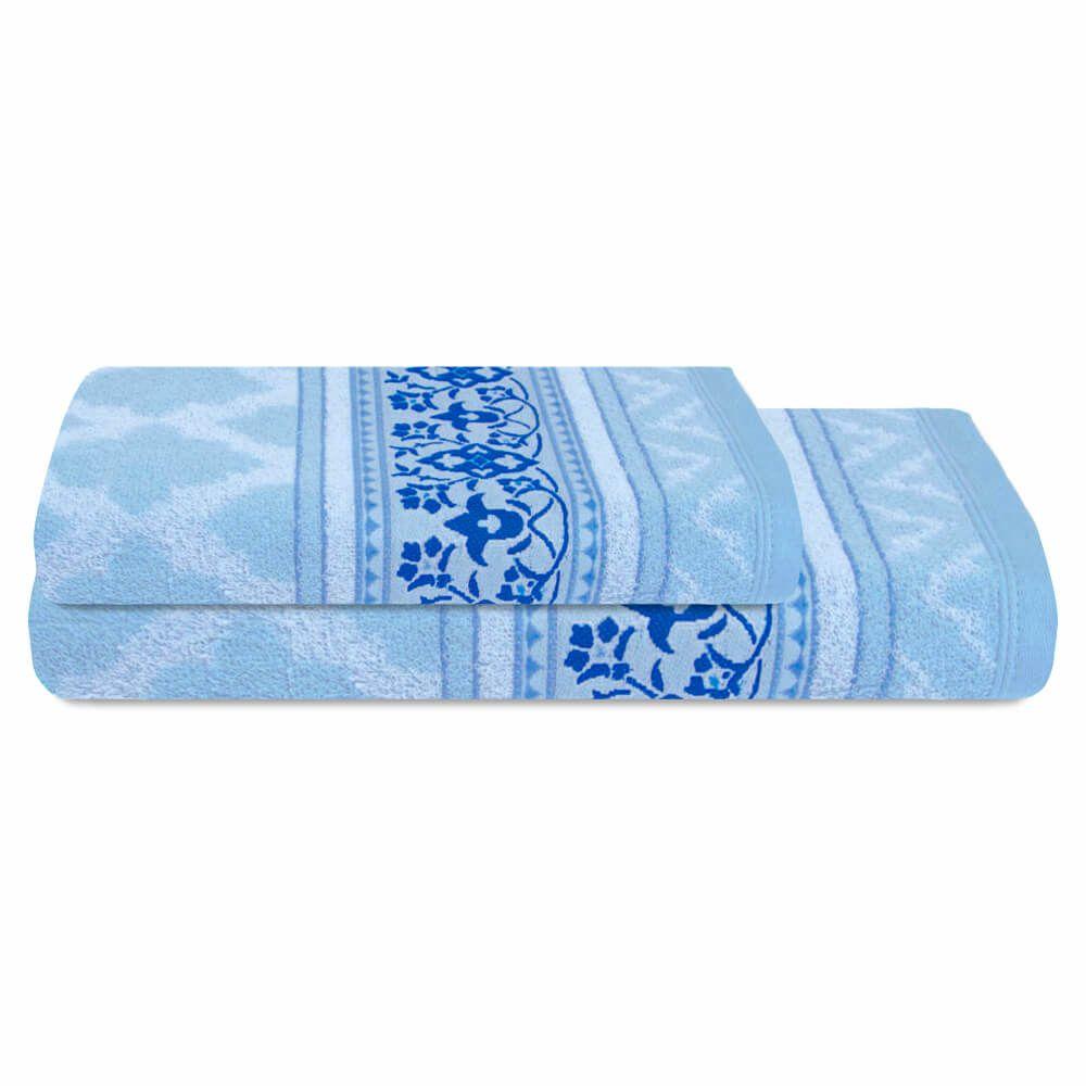 Jogo de Banho 2 Peças Prata Lilla Azul