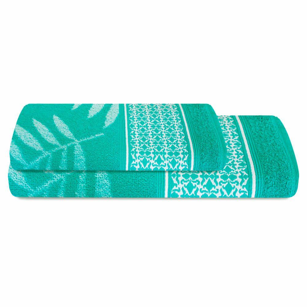 Jogo de Banho 2 Peças Prata Malibu Verde