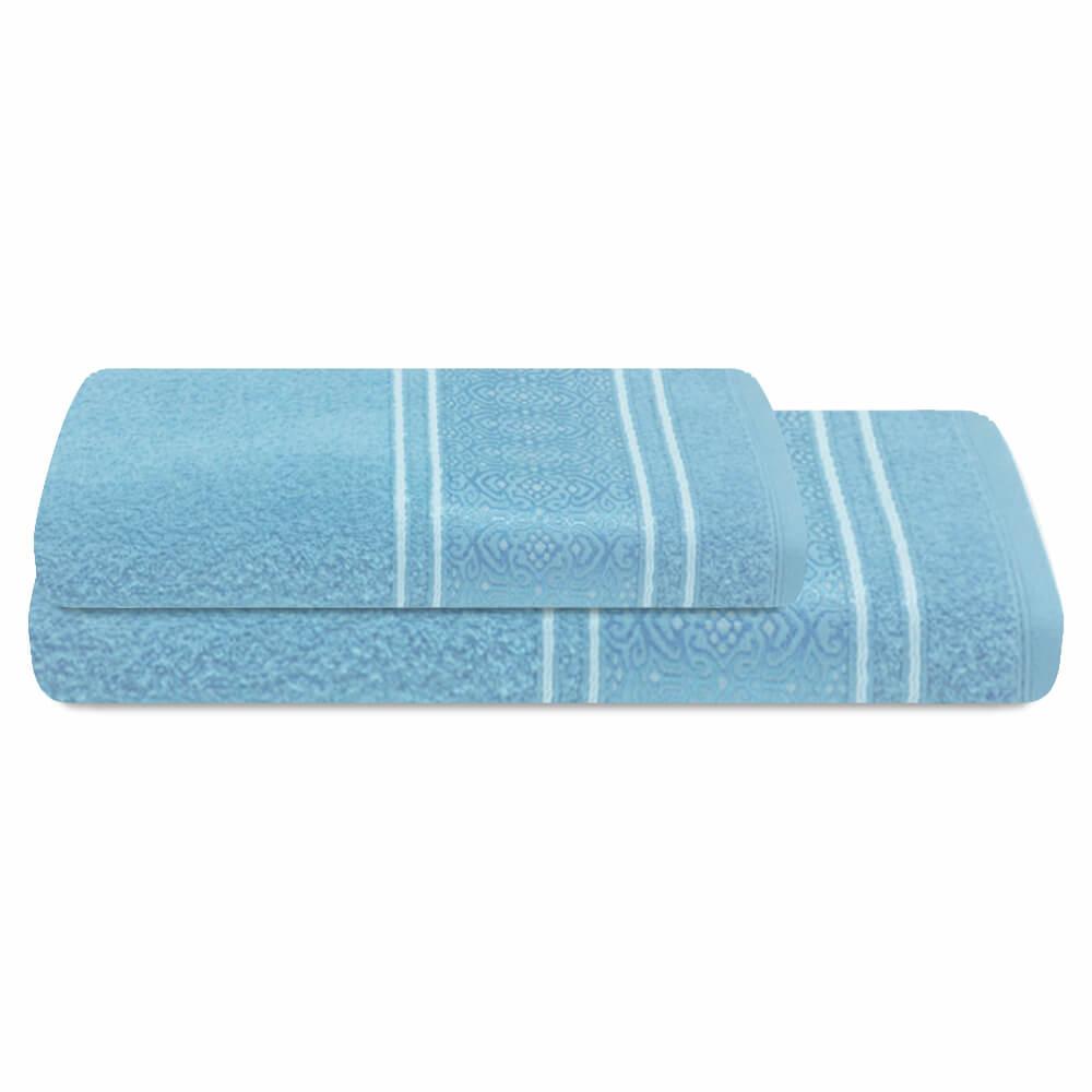 Jogo de Banho 2 Peças Prata Natalie Azul
