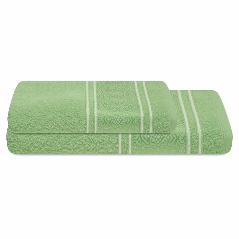 Jogo de Banho 2 Peças Prata Natalie Verde