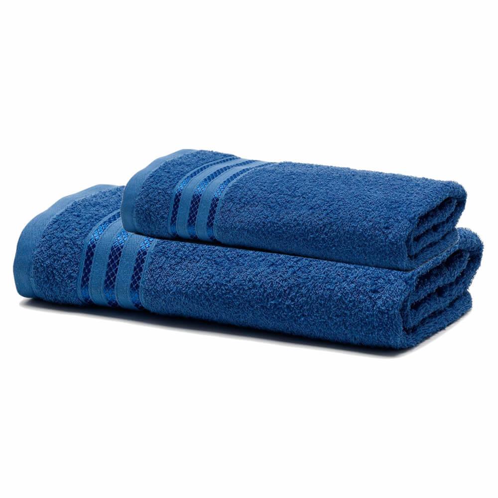 Jogo de Banho 2 Peças Royal Patter Azul