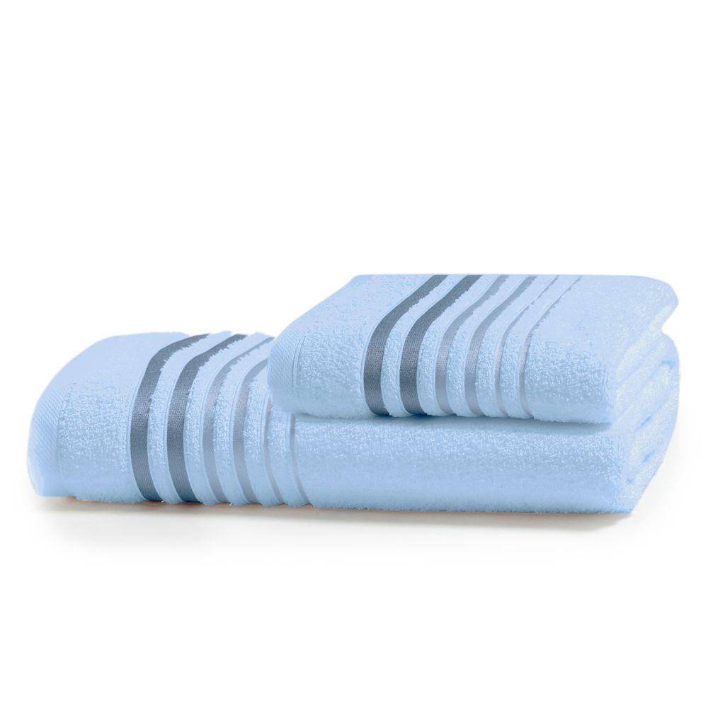 Jogo de Banho Artex Le Bain Gávea 2 Pçs Azul