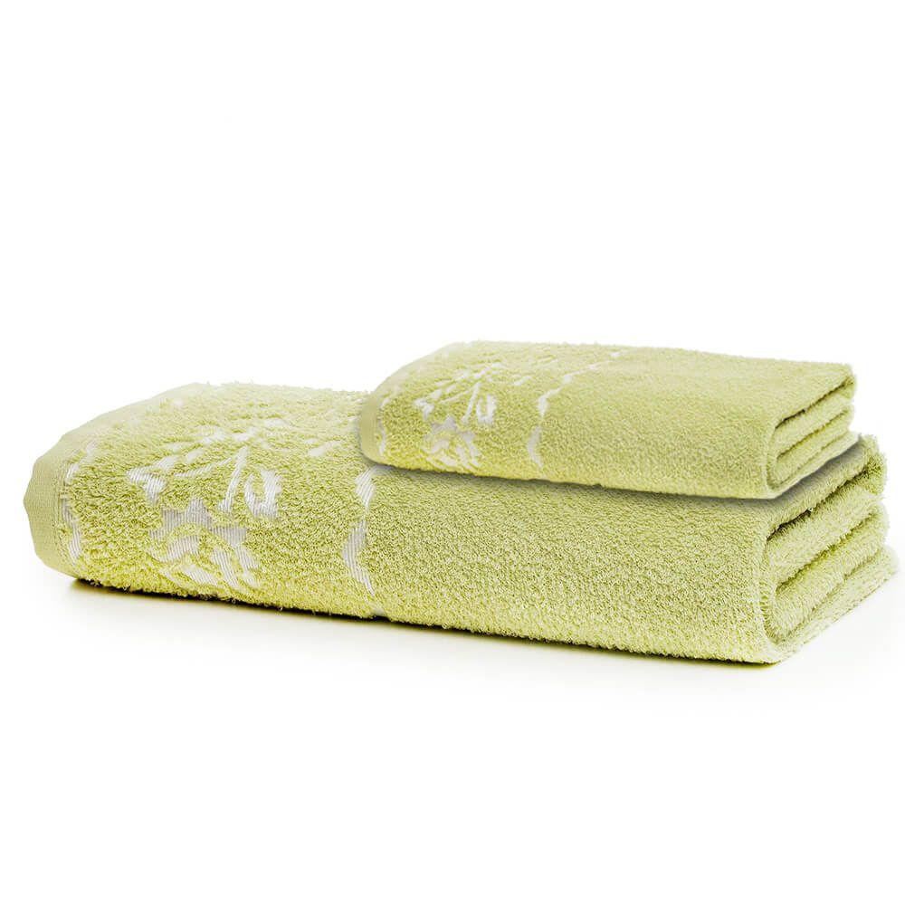 Jogo de Banho 2 Peças Prata Diana Verde