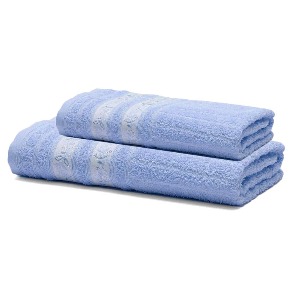Jogo de Banho 2 Peças Prata Letícia Azul