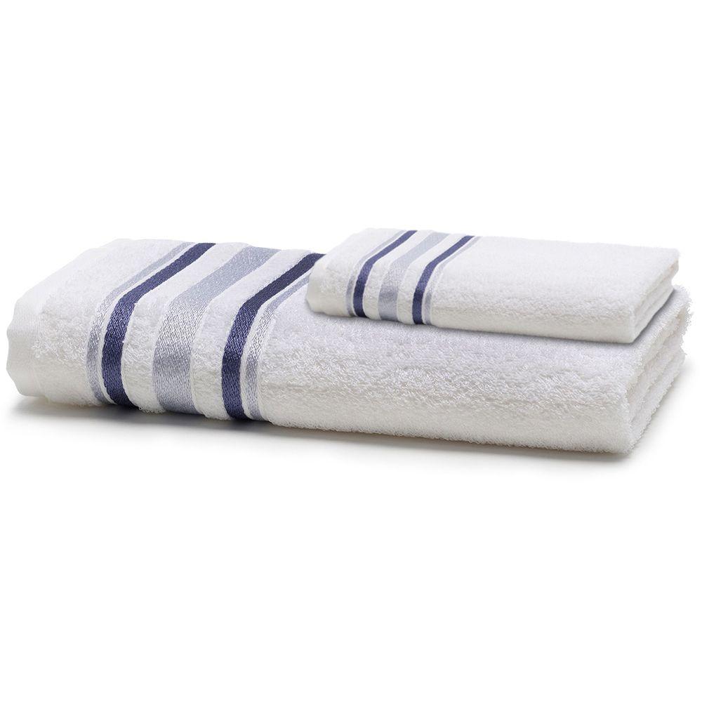 Jogo de Banho 2 Peças Prata Serena Branco