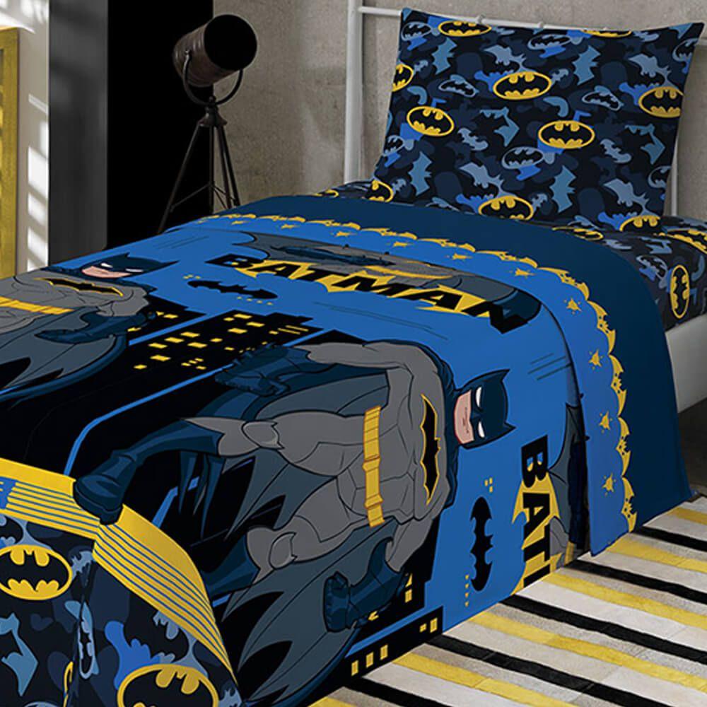 Jogo de Cama Infantil 2 Peças Batman