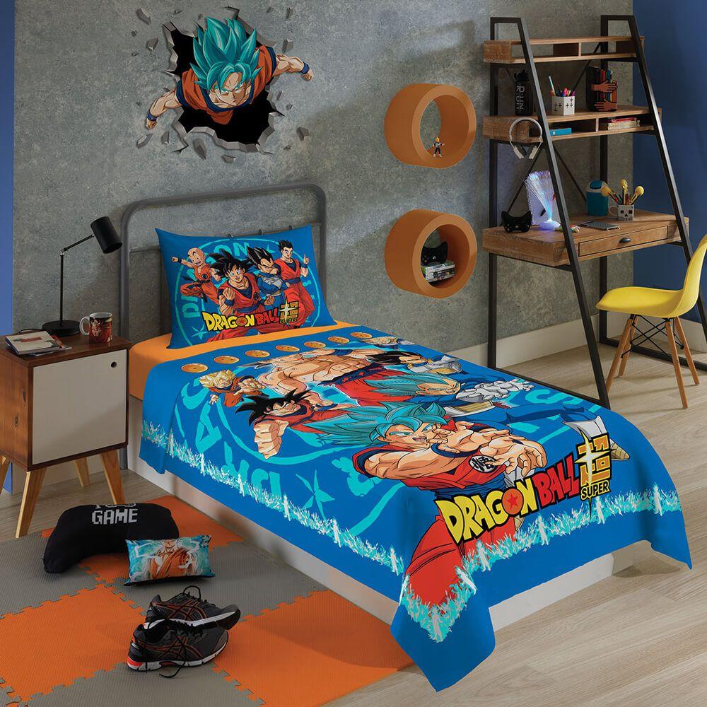 Jogo de Cama Infantil 2 Peças Dragon Ball