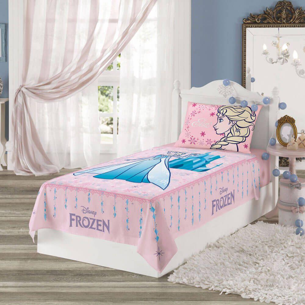Jogo de Cama Infantil 2 Peças Frozen Elsa