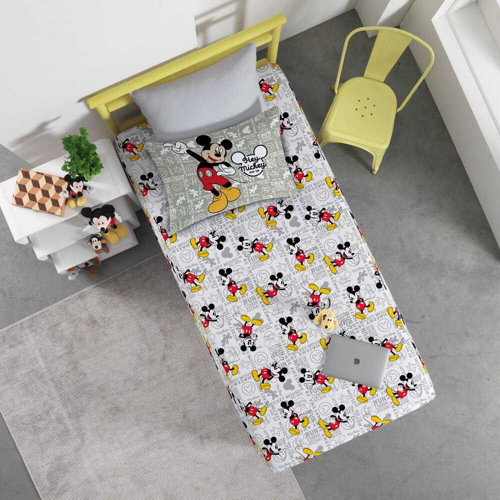 Jogo de Cama Infantil 2 Peças Mickey Fun