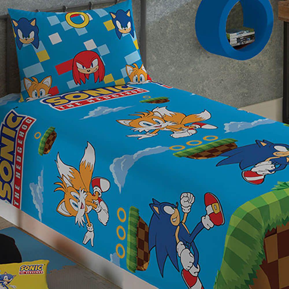 Jogo de Cama Infantil 2 Peças Sonic