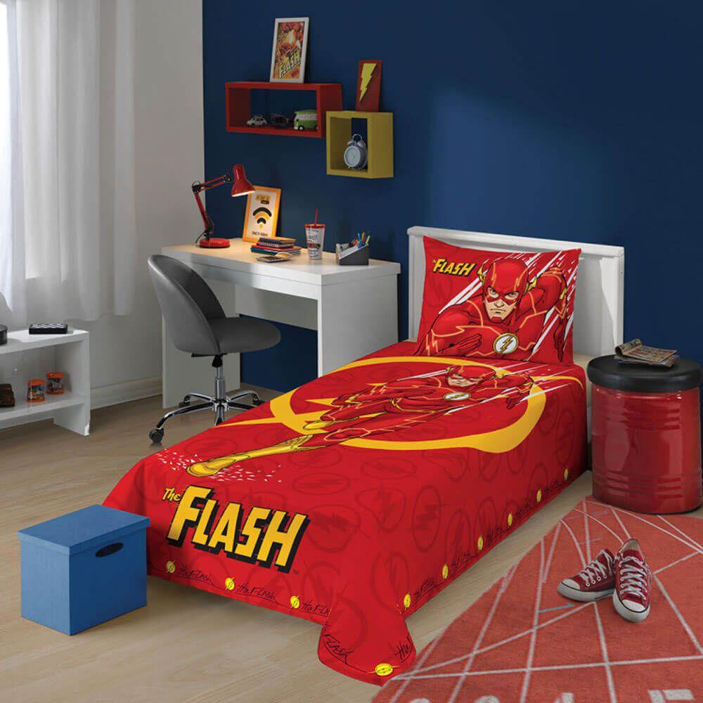Jogo de Cama Infantil 2 Peças The Flash