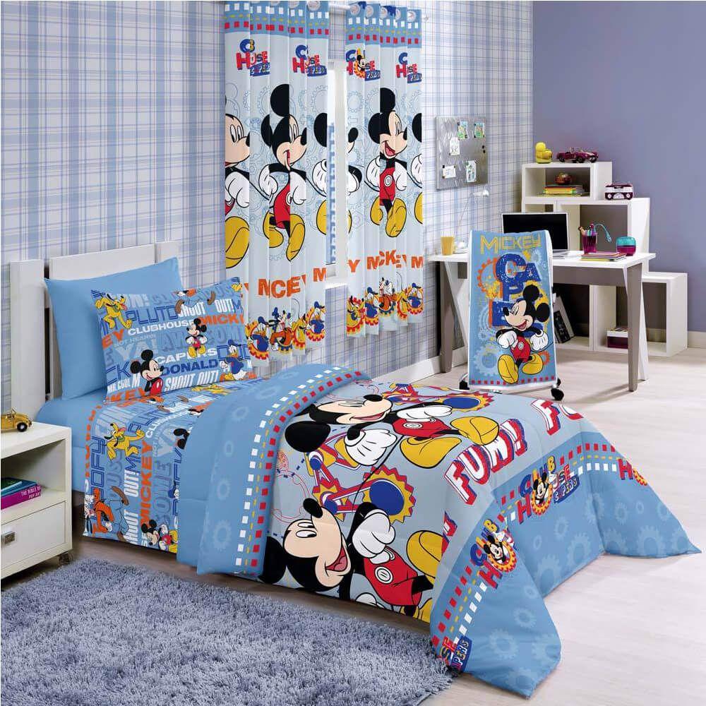 Jogo de Cama Infantil 3 Peças Mickey Club