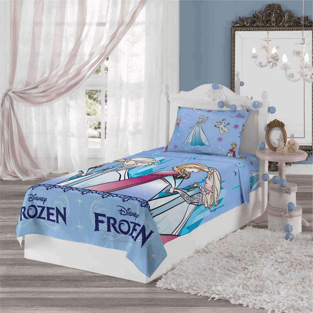 Jogo de Cama Infantil 2 Peças Frozen
