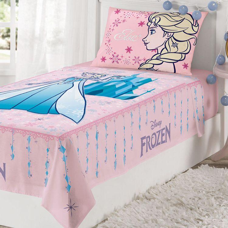 1a3c23261d ... Jogo de Cama Infantil Frozen 2 Peças Rosa