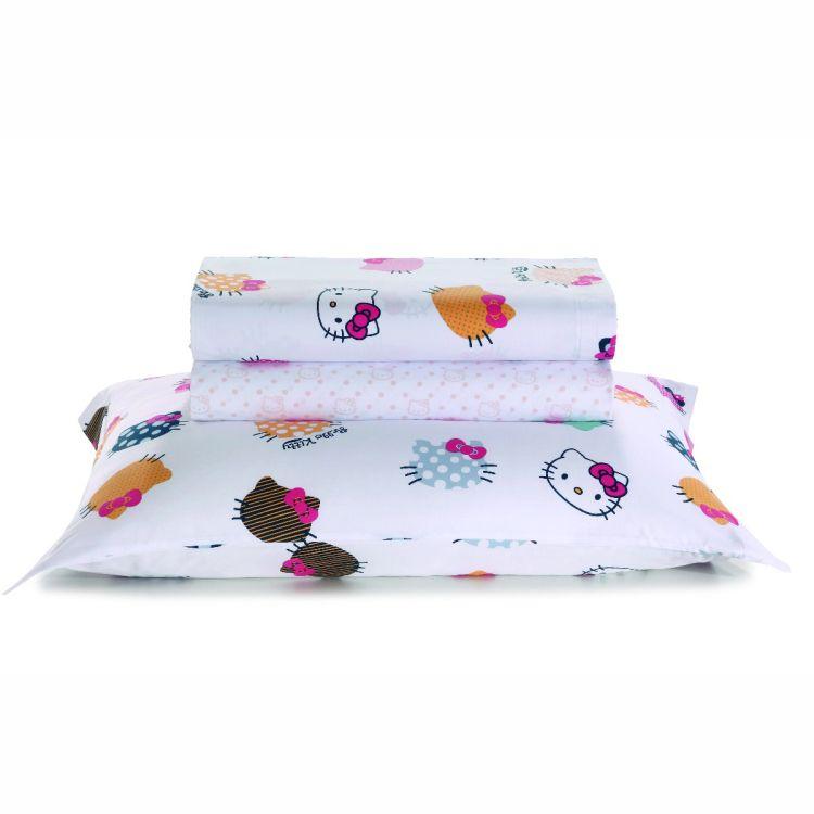 Jogo de Cama Infantil Hello Kitty Artex 180 fios