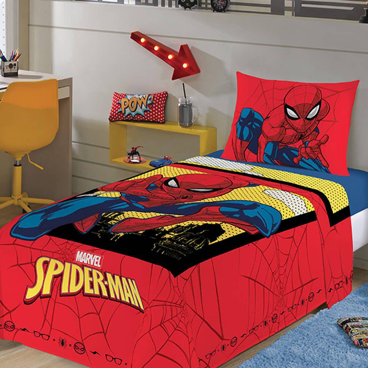 Jogo de Cama Infantil 2 Peças Homem Aranha