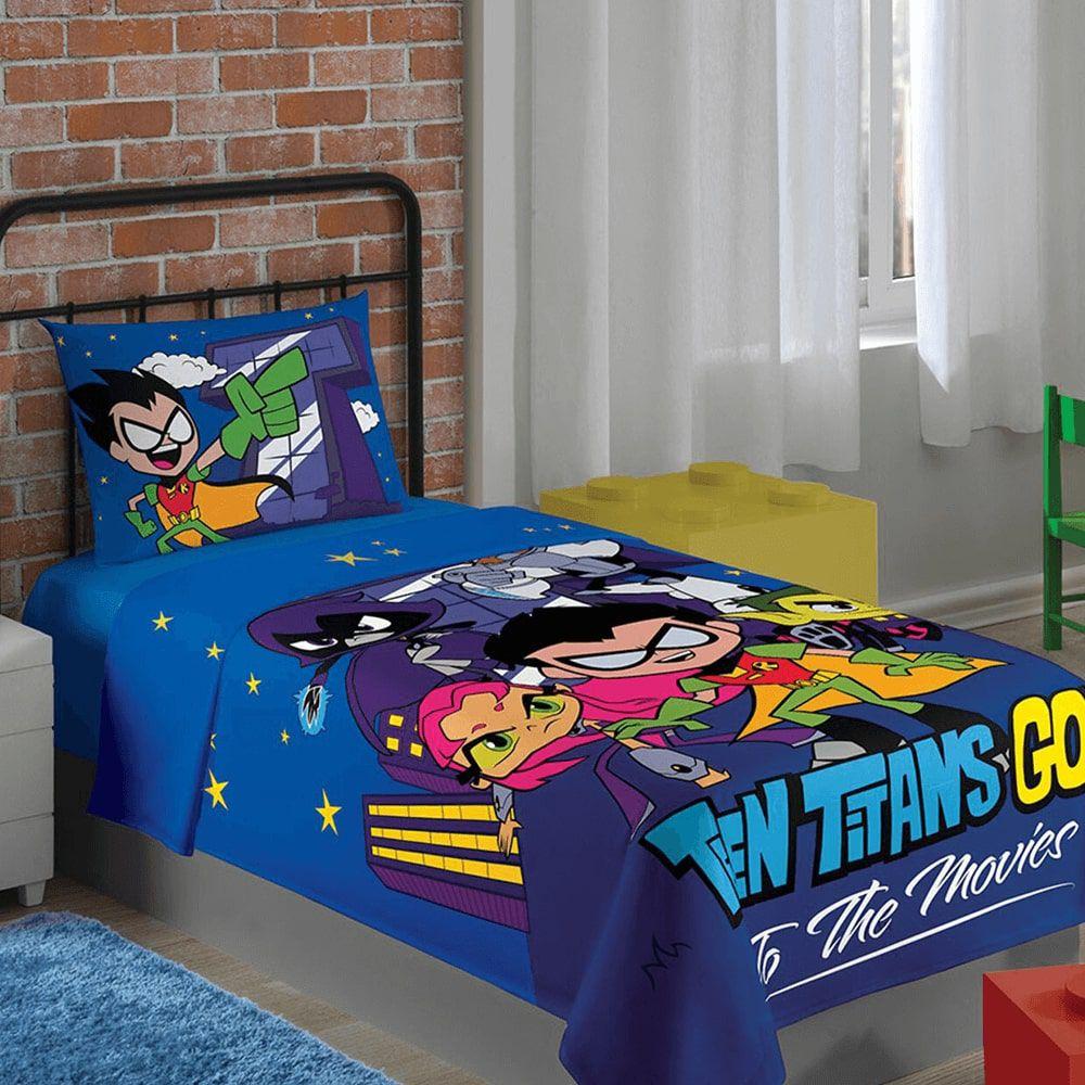 Jogo de Cama Infantil 2 Peças Jovens Titãs