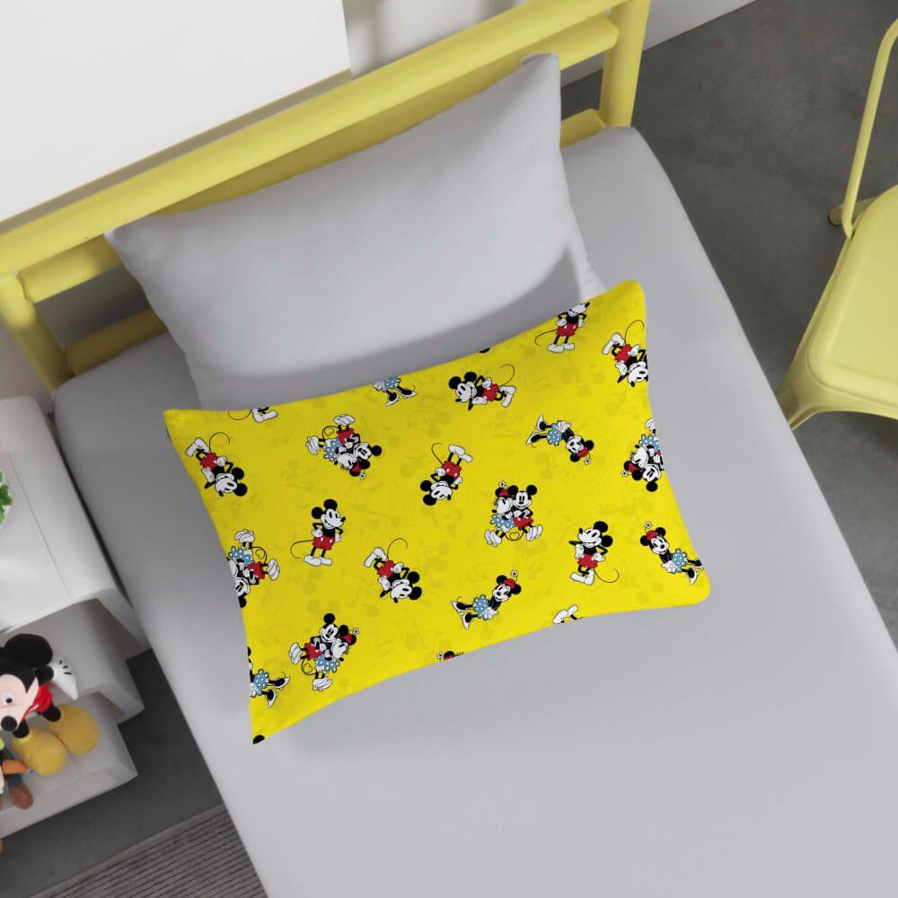 Jogo de Cama Infantil 2 Peças Mickey 90 Anos