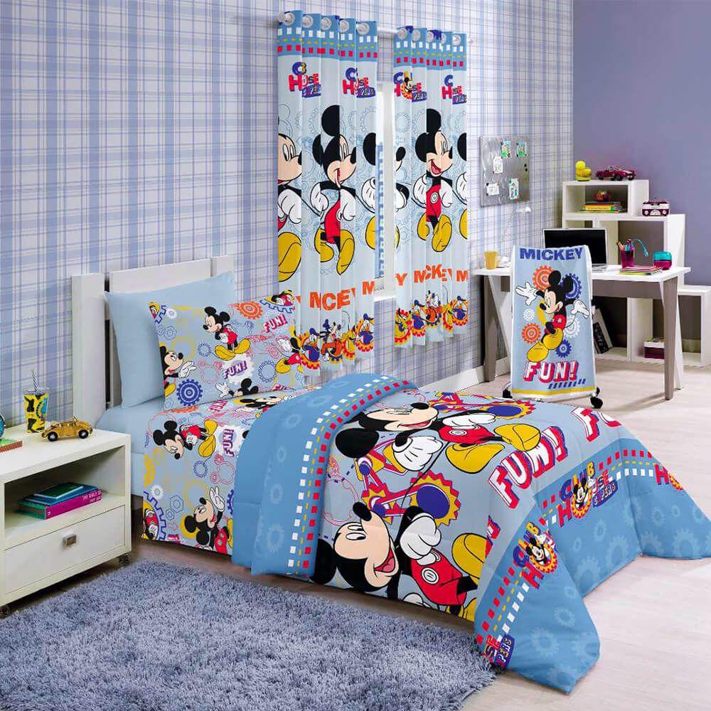 Jogo de Cama Infantil 3 peças Mickey Fun
