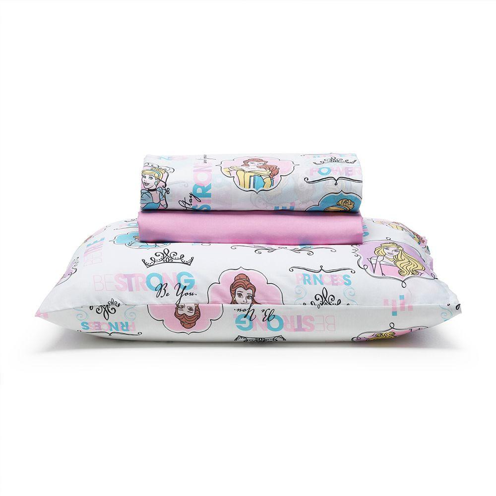 Jogo de Cama Infantil 3 Peças Princesas Disney