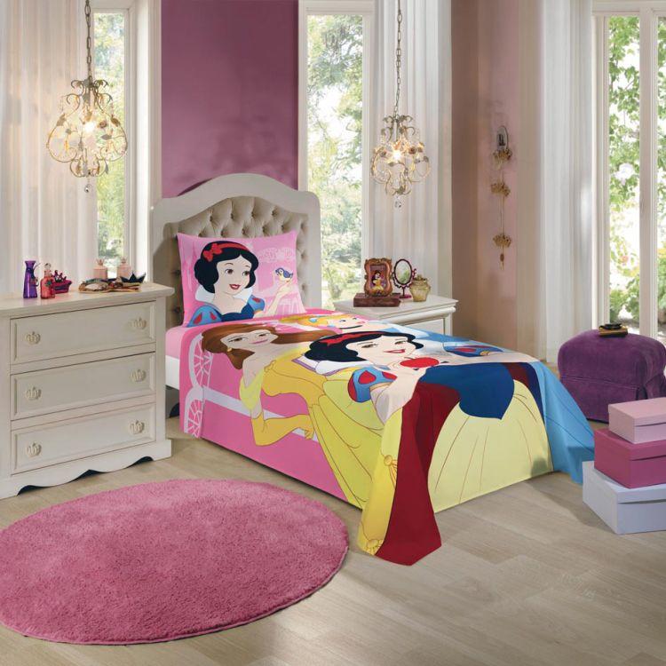 424c69bc6e Jogo de Cama Infantil Princesas Disney