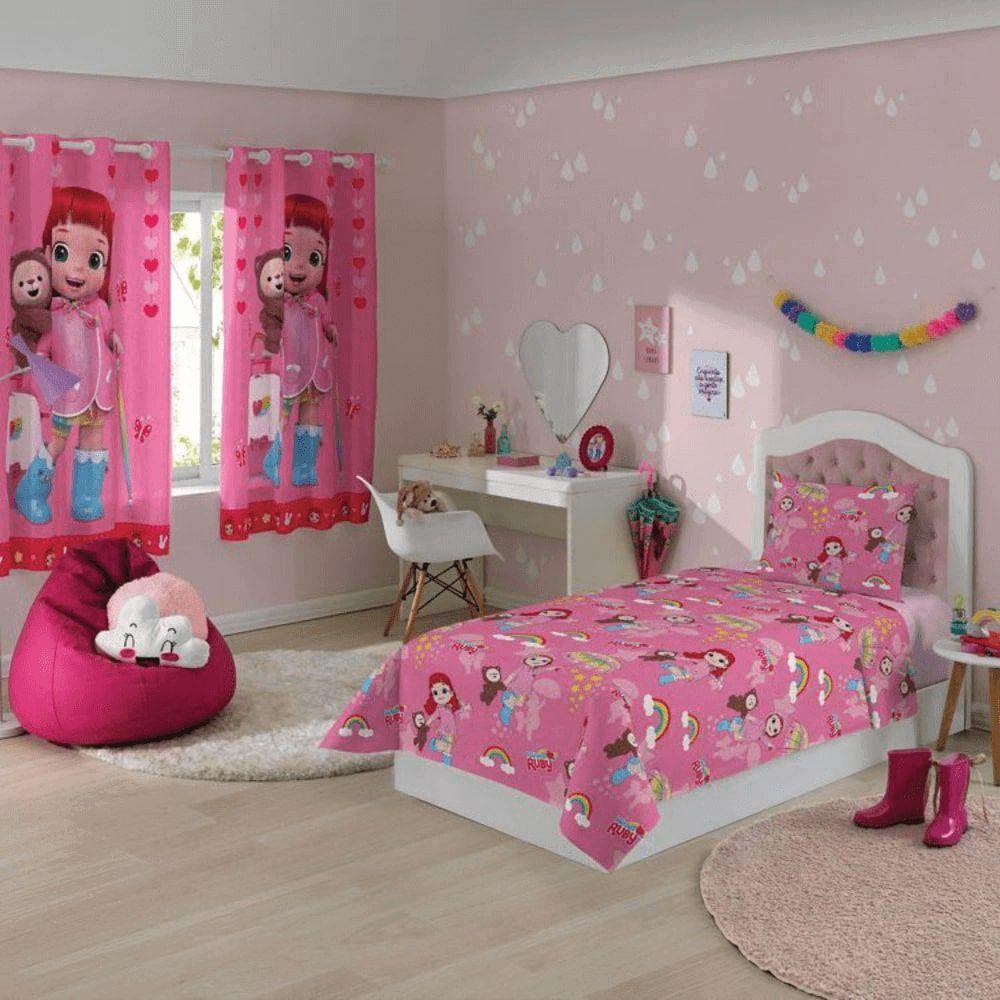 Jogo de Cama Infantil 2 Peças Rainbow Ruby