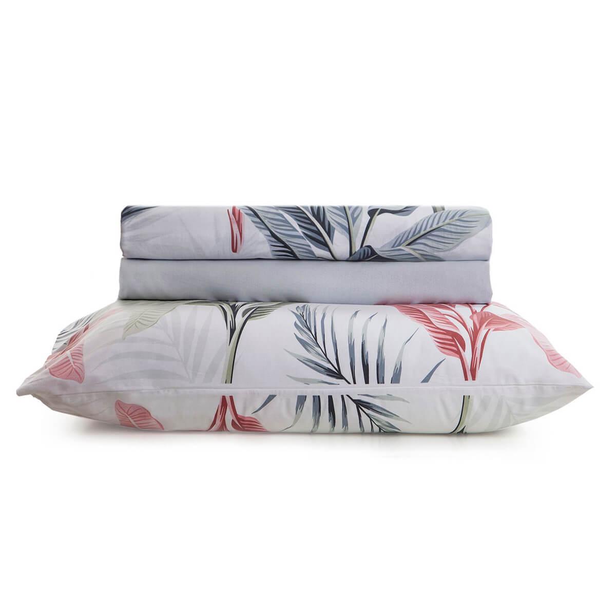 Jogo de Cama King 4 Peças 100% Algodão Home Design Palm